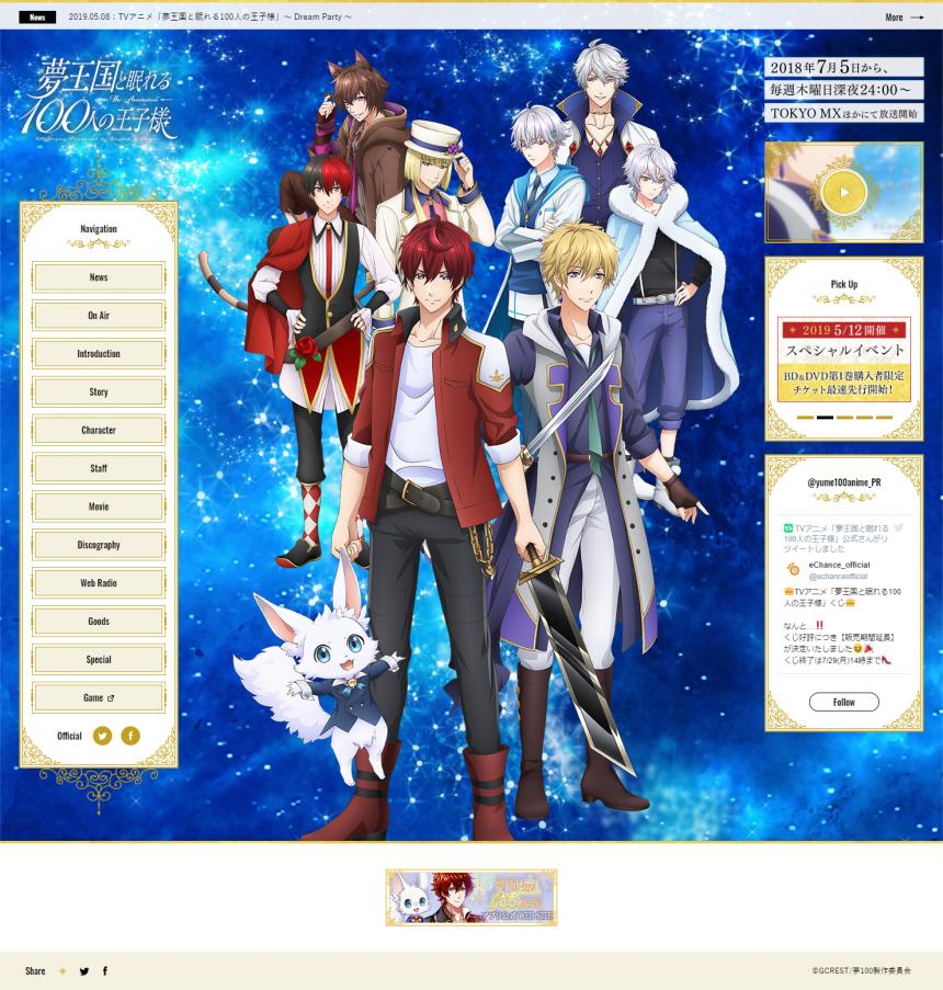 夢王国と眠れる100人の王子様 公式サイト